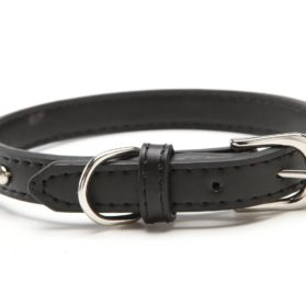 BINGPET BA2006 Real Split Leather Studded Pet Dog Collar 2