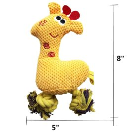FUNPET Squeaky Dog Toys for Small Pet Puppy Chew Cute Plush Giraffe 2