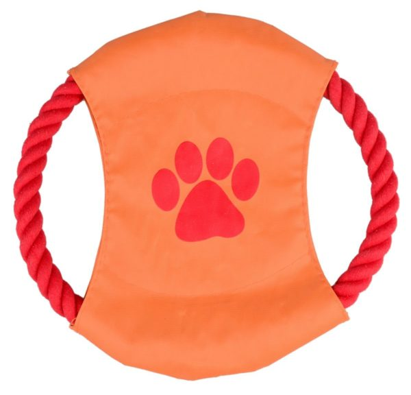 Zelta Outdoor Training Frisbee Flying Discs Pet Dog Chew Bite Toy Braided Cotton Rope Ring