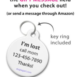 Chihuahua Silhouette - Custom Pet ID Tag for Dogs and Cats - Dog Tag Art 2