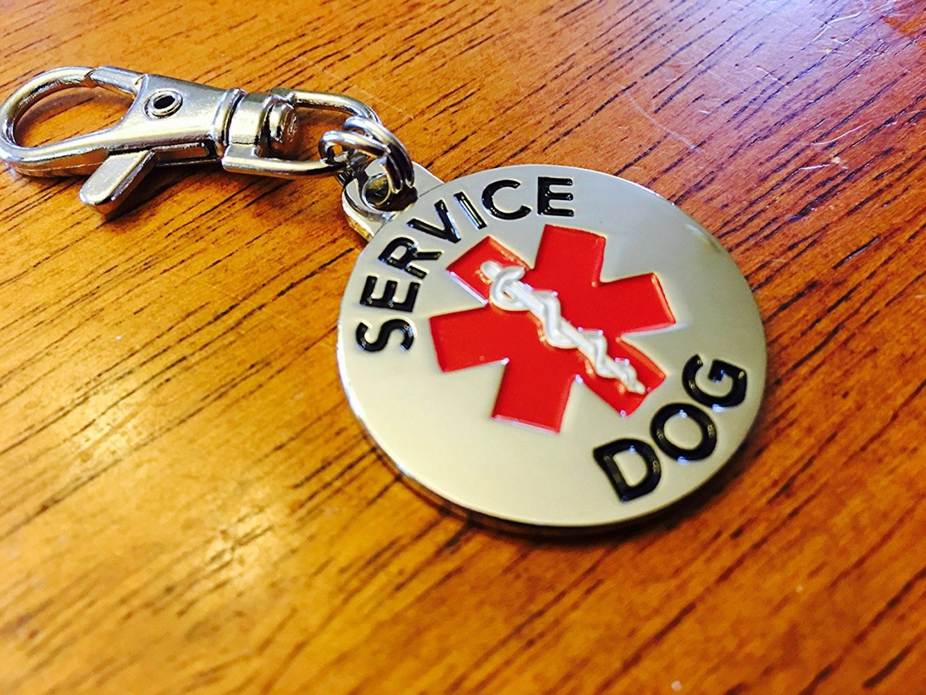 Double Sided Service Dog With Red Medical Alert Symbol 1