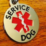 DOUBLE SIDED SERVICE DOG with Red Medical Alert Symbol 1.25 inch Durable Stainless Steel Dog Tag 3