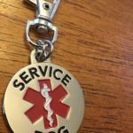 DOUBLE SIDED SERVICE DOG with Red Medical Alert Symbol 1.25 inch Durable Stainless Steel Dog Tag 4