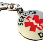 DOUBLE SIDED SERVICE DOG with Red Medical Alert Symbol 1.25 inch Durable Stainless Steel Dog Tag 5