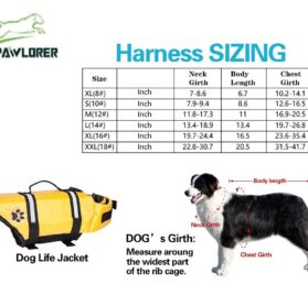 Designer Dog Life Jacket Pet Saver Vest Coat Floation Float Ait Buoyancy 2
