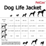 Dog Life Jacket Quick Release Easy-Fit Adjustable Dog Life jackets Blue (XL,L,M,S,XS)---By PetCee 2