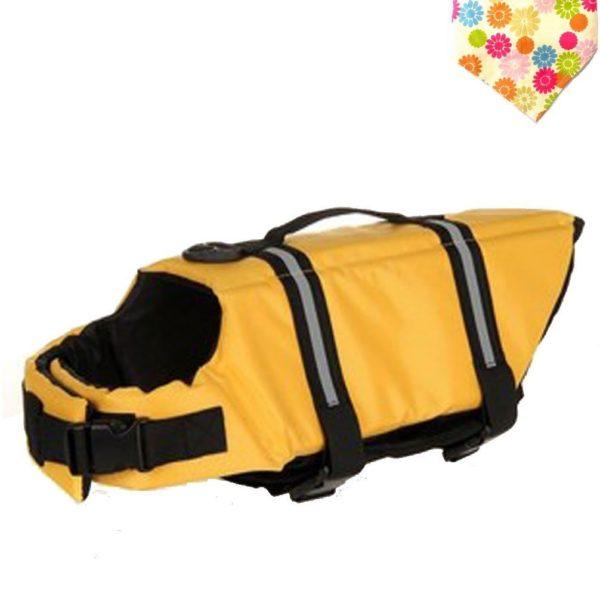 Float Coat Dog Life Jacket Quick Release Easy-Fit Adjustable Dog Life Protecter