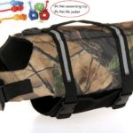 L&LH Camouflage Ripstop Dog Life Jacket Doggy Swimming Preserver Life Vest Coat With Adjustable Belt with a Pet swimming toy. (S)
