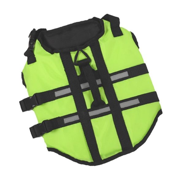 Ultrafun Adjustable Dog Life Jacket Swimming Harness Floatation Vest with Rescue Handle