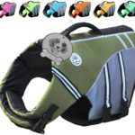Vivaglory New Sports Style Ripstop Dog Life Jacket with Superior Buoyancy & Rescue Handle, 5 Sizes & 7 Colors