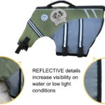 Vivaglory New Sports Style Ripstop Dog Life Jacket with Superior Buoyancy & Rescue Handle, 5 Sizes & 7 Colors 2