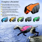 Vivaglory New Sports Style Ripstop Dog Life Jacket with Superior Buoyancy & Rescue Handle, 5 Sizes & 7 Colors 6