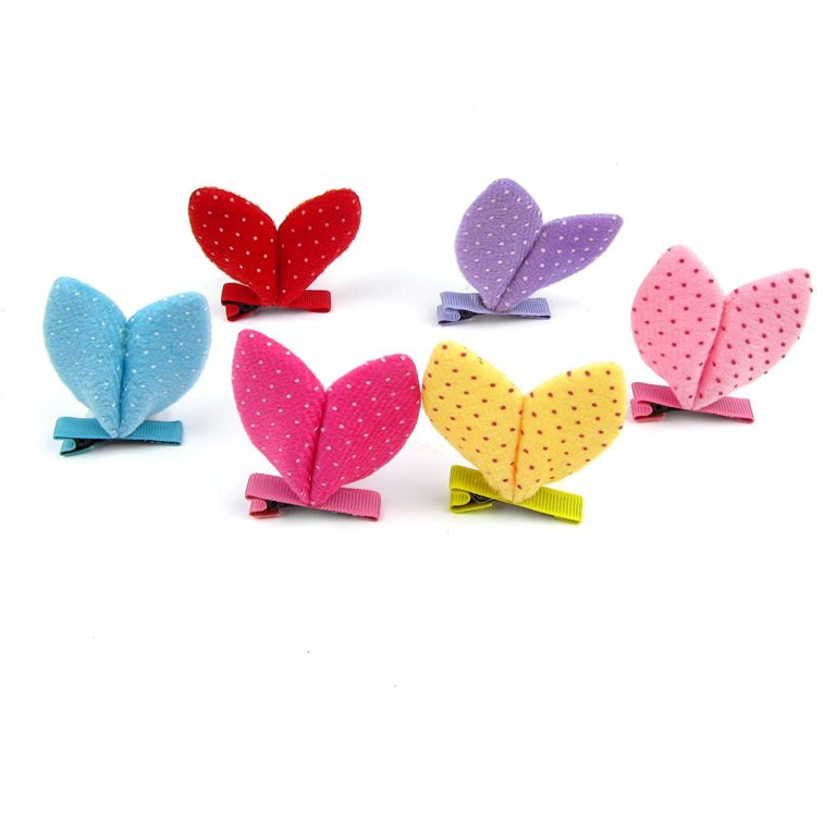Alfie Pet by Petoga Couture - Becci Bunny Ears Hair Clip 6-Piece Set for Dogs, Cats and Small Animals