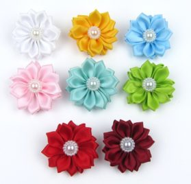Alfie Pet by Petoga Couture - Cherrie Flower Hair Clip 8-Piece Set for Dogs, Cats and Small Animals 2