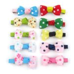 Alfie Pet by Petoga Couture - Stephy Bow Hair Clip 10-Piece Set for Dogs, Cats and Small Animals