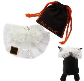 Alfie Pet by Petoga Couture - Viola Bridal Wedding Clip Veil with Fabric Storage Bag