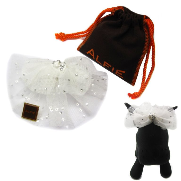 Alfie Pet by Petoga Couture - Viola Bridal Wedding Clip Veil with Fabric Storage Bag