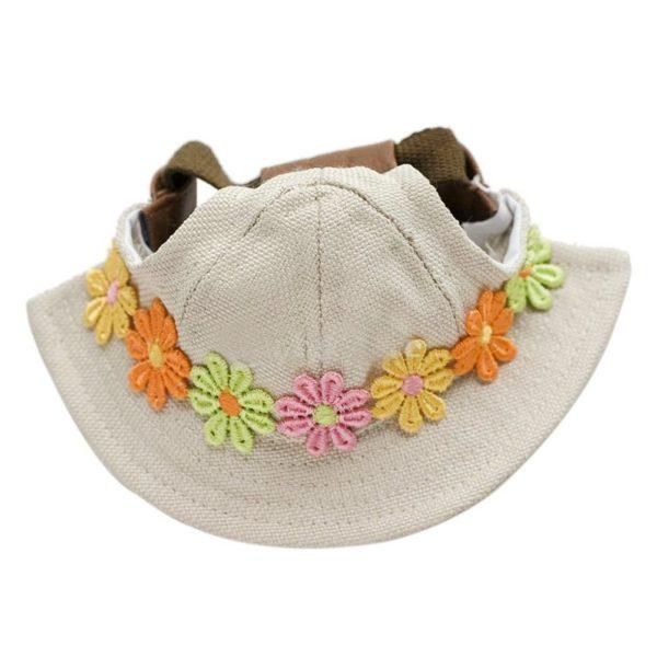 NUOLUX Flower Puppy Pet Chihuahua Sport Cap Bucket Hat Visor Sunbonnet