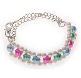 3-Layer-Pearl Pet Necklace (Mulit Color)