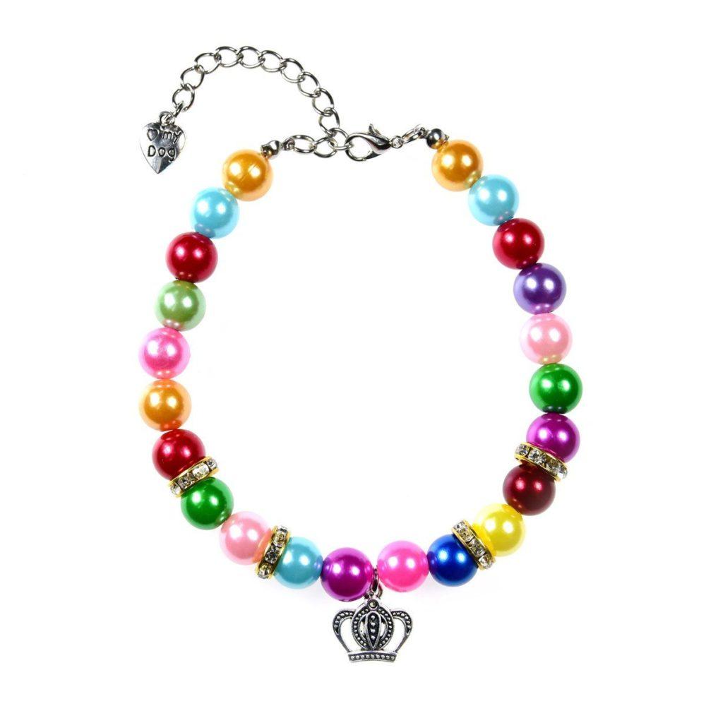 Puppy Diamond Dog Food >> 3 Sizes Handmade Cat Dog Necklace Jewelry with Bling Rhinestone