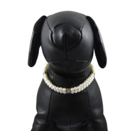 Alfie Couture Designer Pet Jewelry - Nea Double Layer Pearl Necklace for Dogs and Cats 2