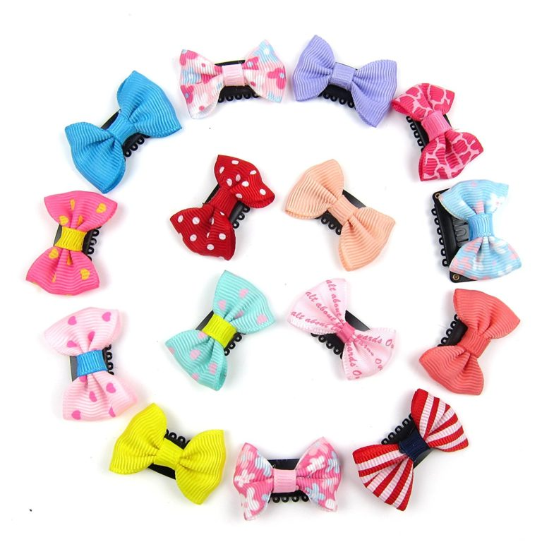 Alfie Pet by Petoga Couture - Cacey Bow Hair Clip 15-Piece Set for Dogs, Cats and Small Animals