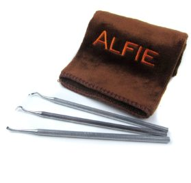 Alfie Pet by Petoga Couture - Dagan Dental Tarter Remover-Scraper 3-piece Set with Microfiber Fast-Dry Washcloth