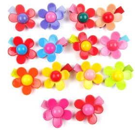 Alfie Pet by Petoga Couture - Dassa Flower Hair Clip 14-Piece Set for Dogs, Cats and Small Animals 2