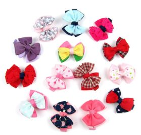 Alfie Pet by Petoga Couture - Elssa Bow Hair Clip 14-Piece Set for Dogs, Cats and Small Animals