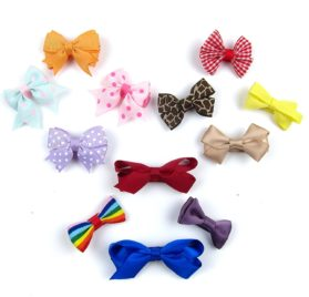 Alfie Pet by Petoga Couture - Emma Bow Hair Clip 12-Piece Set for Dogs, Cats and Small Animals 2