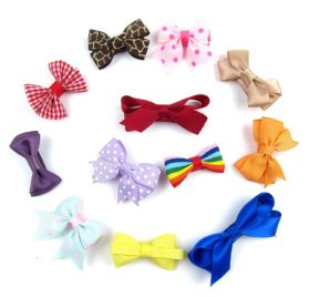 Alfie Pet by Petoga Couture - Emma Bow Hair Clip 12-Piece Set for Dogs, Cats and Small Animals