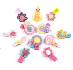 Alfie Pet by Petoga Couture - Falisha Lollipop Hair Clip 12-Piece Set for Dogs, Cats and Small Animals