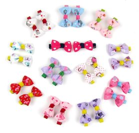 Alfie Pet by Petoga Couture - Jasmine Bow Hair Clip 24-Piece Set for Dogs, Cats and Small Animals