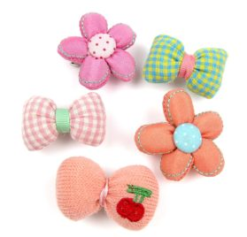 Alfie Pet by Petoga Couture - Julia Hair Clip 5-Piece Set for Dogs, Cats and Small Animals