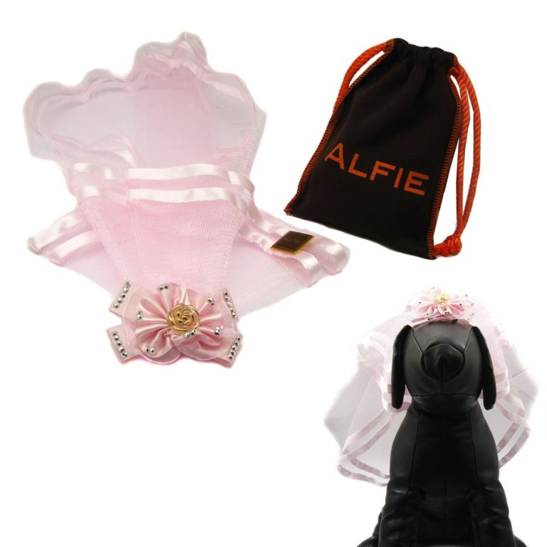 Alfie Pet by Petoga Couture - Khloe Bridal Wedding Clip Veil with Fabric Storage Bag