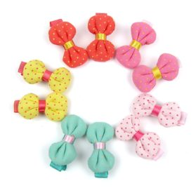 Alfie Pet by Petoga Couture - Marcia Bow Hair Clip 10-Piece Set for Dogs, Cats and Small Animals