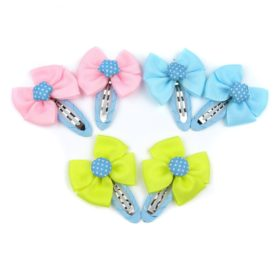 Alfie Pet by Petoga Couture - Melinda Bow Hair Clip 6-Piece Set for Dogs, Cats and Small Animals