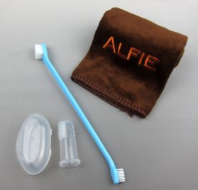 Alfie Pet by Petoga Couture - Walter Dual Toothbrush Set with Microfiber Fast-Dry Washcloth