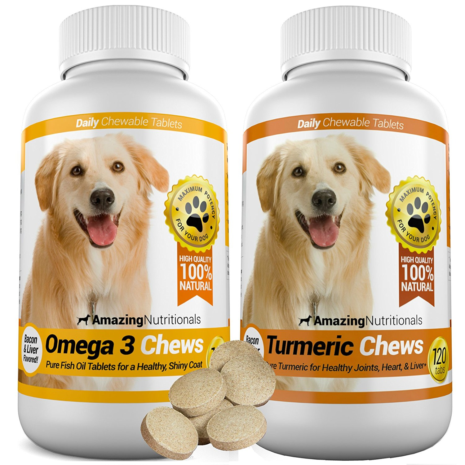 Amazing combo omega 3 fish oil and turmeric curcumin for dogs for Fish oil for arthritis