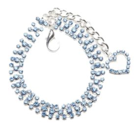 BINGPET BB4008 Dog Cat Collar with Crystal Heart Designer Diamond Pet Jewelry Rhinestone Necklace