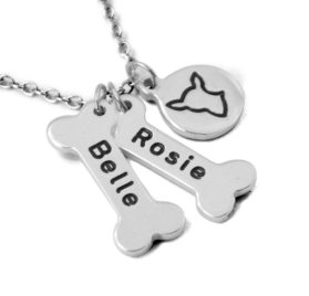Chihuahua Dog Necklace,Personalized Dog names collor,Dog Bone & Dog breeds Charm Necklace.Your Lover Pet Gift. 2