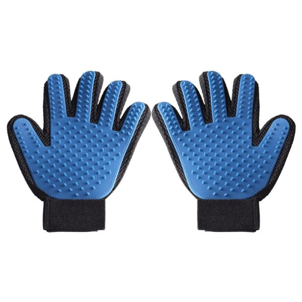 Cideros Professional Pet Grooming Gloves Best Cat and Dog Grooming Brush Makes Grooming Easier - For Short and Long Hair Pet Hair Removal Deshedding Pets