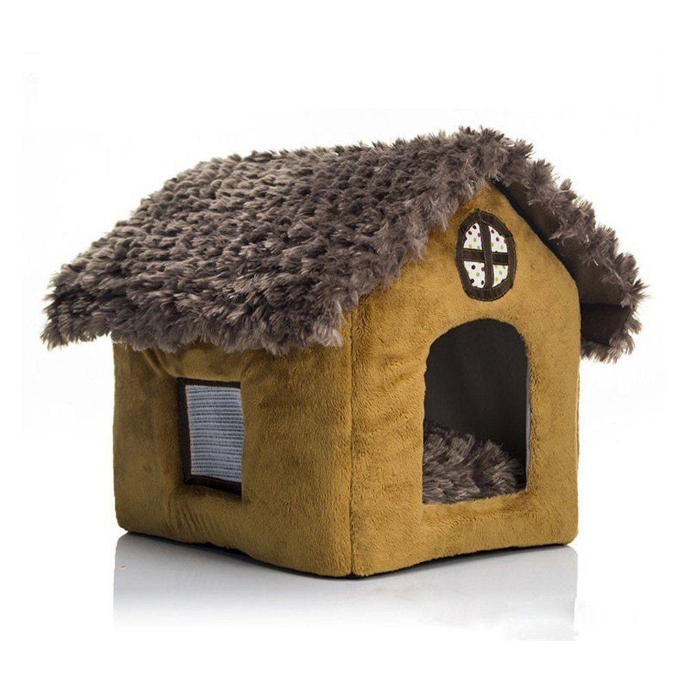 Cute Small Pet Cat Dog Bed Tent House Kennels For Small Dog