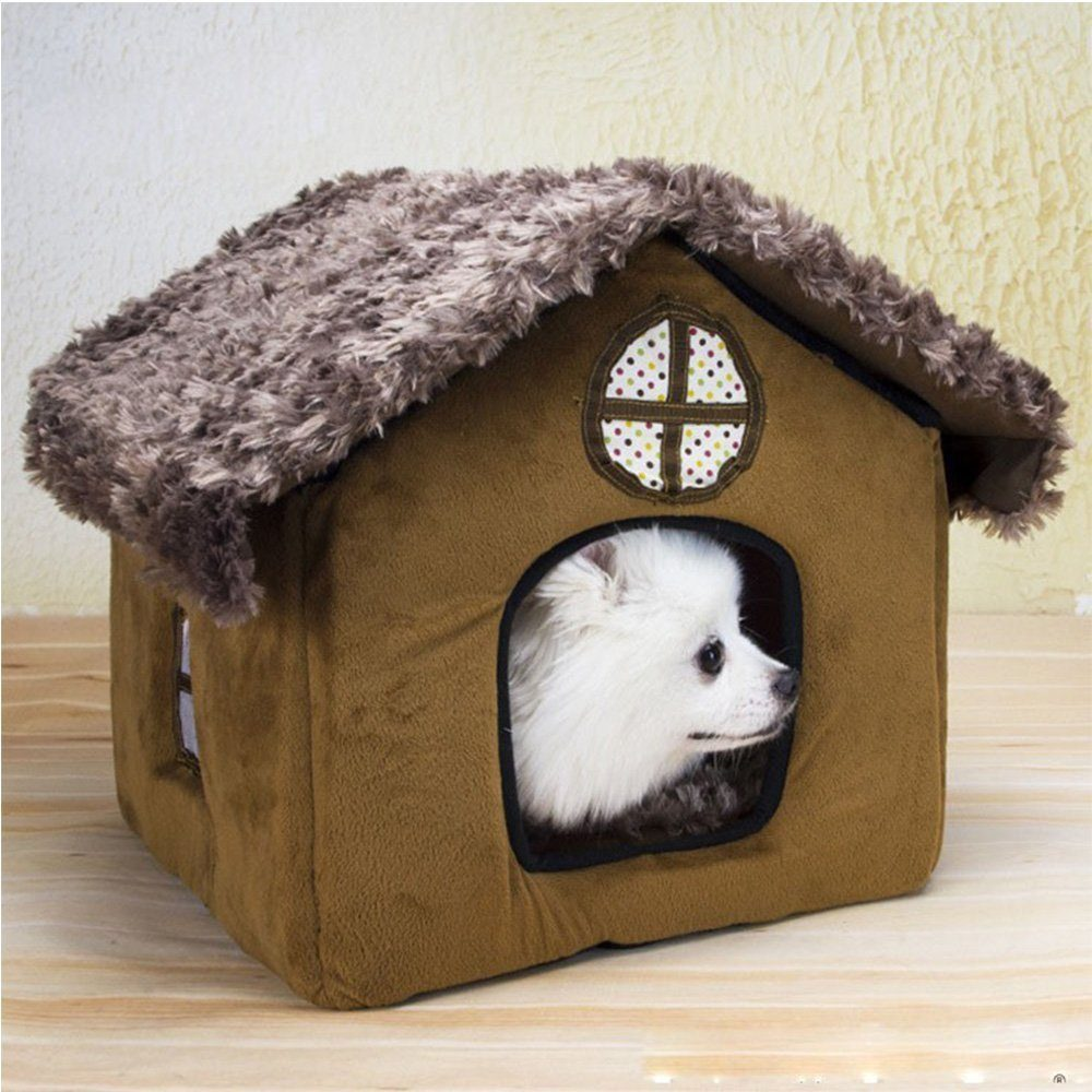 ... Cute Small Pet Dog Cat Bed Tent House Kennels For Small Dog Winter Warm Fleece Dog ... & Cute Small Pet Cat Dog Bed Tent House Kennels For Small Dog