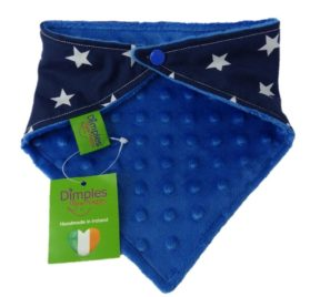 Dimples Dog Bandana - Navy Stars (handmade for all sizes and breeds) 2