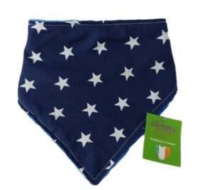 Dimples Dog Bandana - Navy Stars (handmade for all sizes and breeds)