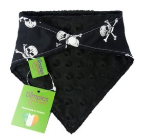 Dimples Dog Bandana - Pirates Jolly Roger (handmade for all sizes and breeds) 2