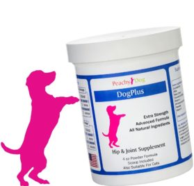 DogPlus Powder Joint Supplement. Extra Strength with Glucosamine, Vitamins & Omega Oils.