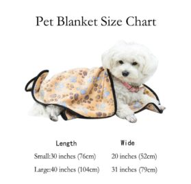 EXPAWLORER Pet Blanket for Small Cats & Dogs Thick 2