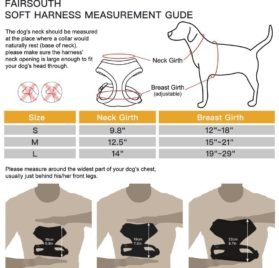 FAIRSOUTH Soft Air Mesh Harness for Dogs-Puppies 2